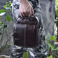 Qualidade Real e Genuíno Couro Masculino saco do mensageiro do couro da forma do vintage Cross-corpo Bolsa de Ombro bolsa 8025