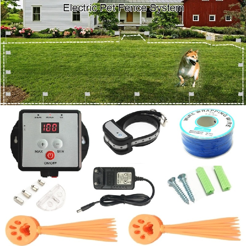 Pet Electric Fence With Waterproof Receiver Training Collar Invisible Electric Dog Fence Containment System Safety