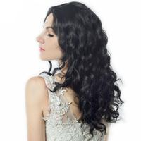Styling Accessory Medium Length Wave Body Black Natural Low Temperature Synthetic Wigs Hair For Black White