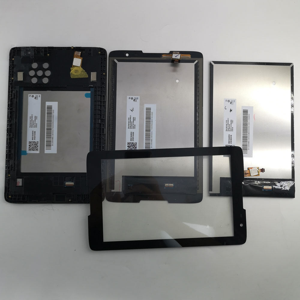 8 Inch LCD Display Monitor Touch Screen Digitizer Glass Assembly With Frame For Lenovo IdeaTab A8-50 A5500 A5500F A5500H A5500HV
