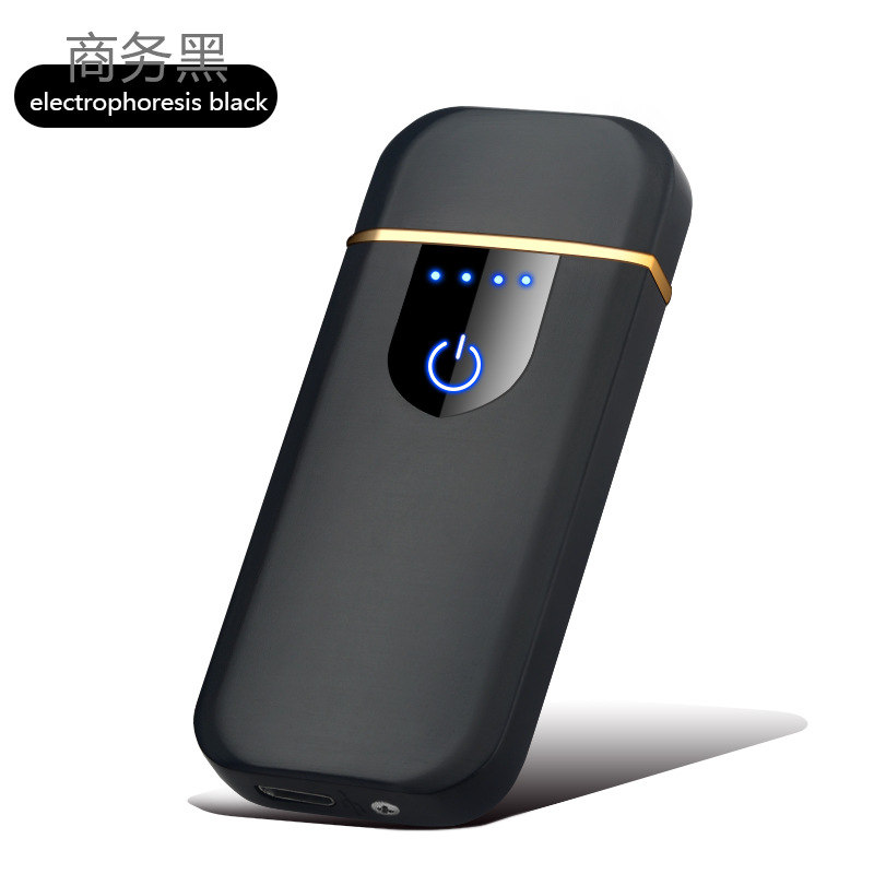 Fingerprint Touch USB Charging Lighter Anti-wind Creative Personality Ultra-thin Network Red Male Electronic Cigarette Lighter