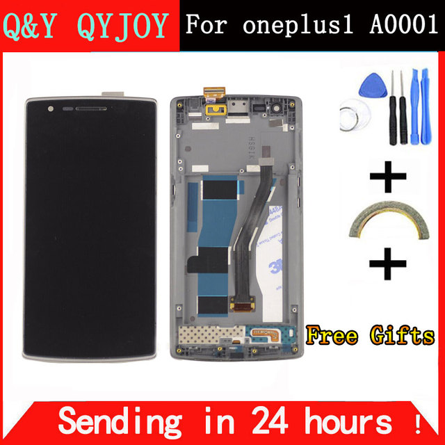 """Q&Y QYJOY For One Plus Oneplus 1 LCD Display Touch Screen Digitizer Assembly With Frame For 5.5"""" Oneplus One A0001 Oneplus 1 LCD"""