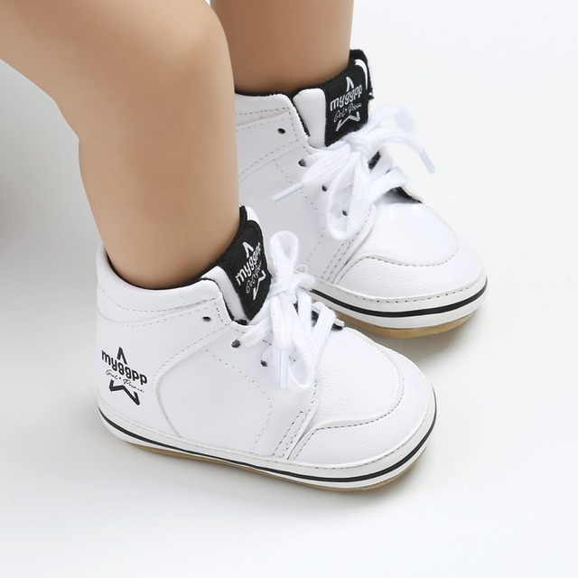 Autumn Baby Shoes Leather First Walkers Fashion PU Strap Rubber Casual Baby Boys Girls Shoes Newborn Breathable Solid Boys Shoes