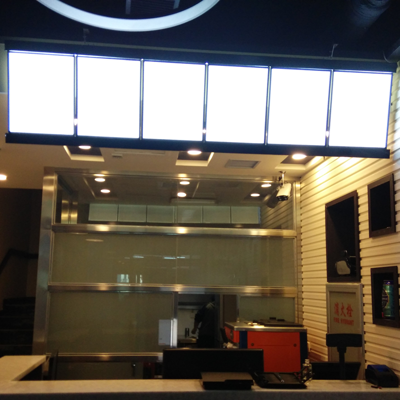 Alto SMD brillante LED iluminado menú paneles aluminio Delgado ...