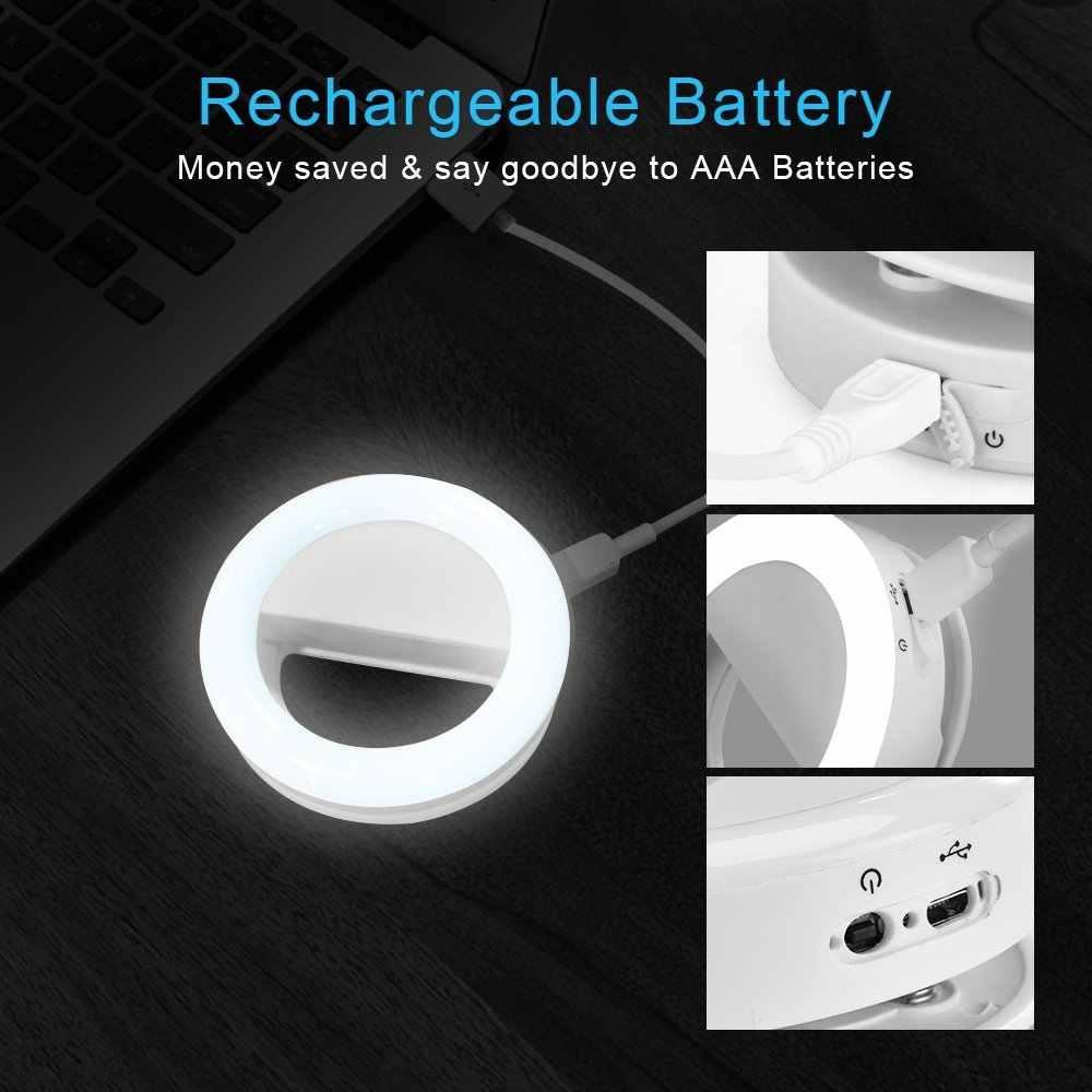 Перезаряжаемый сотовый телефон селфи кольцо свет для камеры 36 светодиодный свет для iPhone iPad Sumsung Galaxy планшет ноутбук фотография телефон