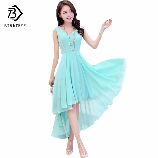 331a14b618 US $10.49 |Hot Bohemia Style Women's Asymmetric Sleeveless long Dresses  Casual Dress Vestidos Femininos For Elegant Women longo D56204-in Dresses  from ...