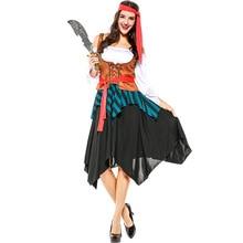 Женщины Captain Pirates Карибский взрослый Cosplay Fancy Dress Карнавал Хэллоуин Косплей костюм для карнавала фестиваль