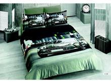 Комплект постельного белья двуспальный-евро VIRGINIA SECRET, Bamboo, машины, 3D