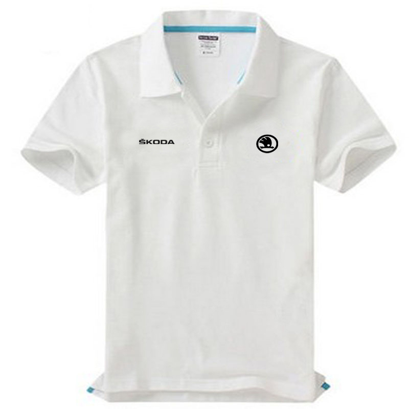 Brand clothing Skoda logo   Polo   Shirt Casual solid male   polo   shirt Short Sleeve High quality