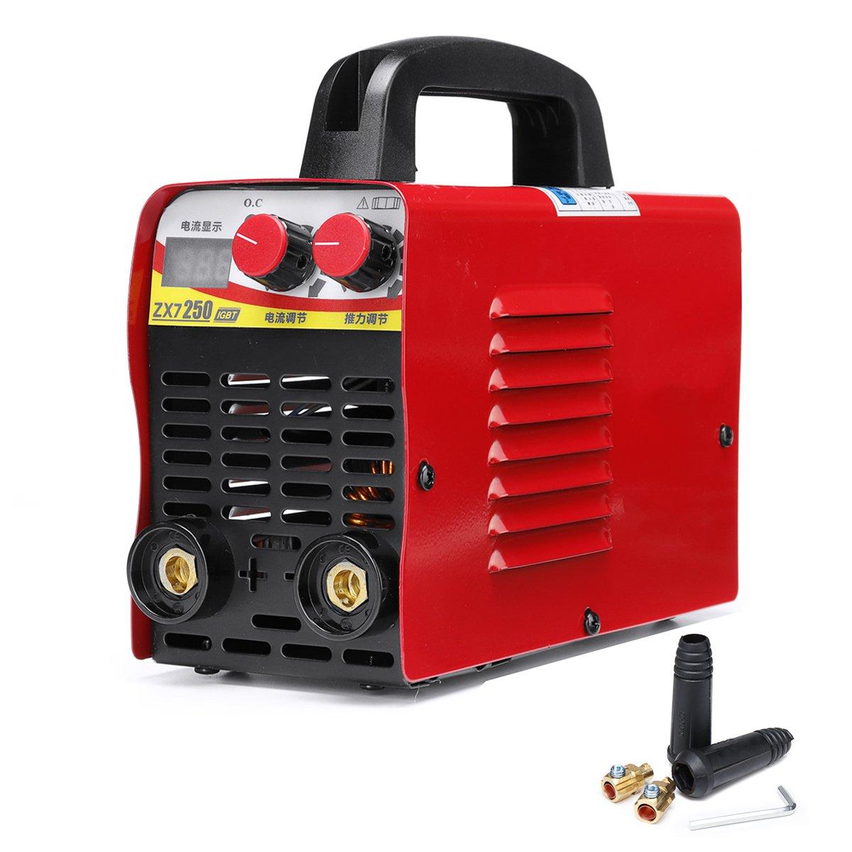 220V 6KW/9.5KW ZX7-250 10-250A Arc Force Electric Welding Machine Mini/Pro LCD Digital Display MMA IGBT Inverter Welders