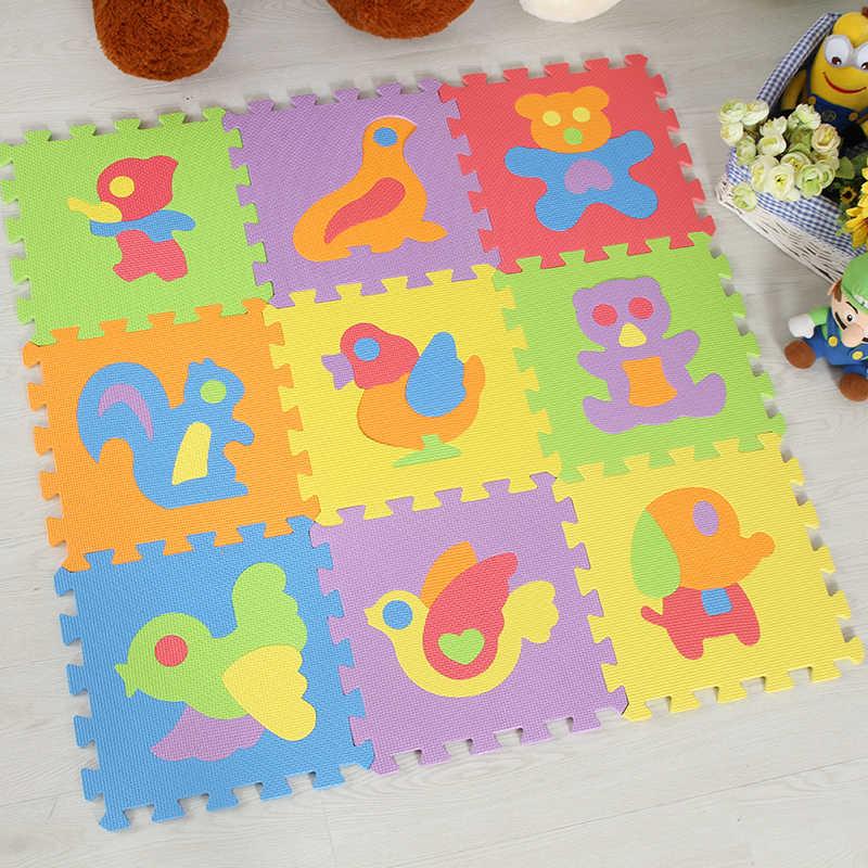 JCC Anilmal стиль головоломка вспененный этилвинилацетат игровой коврик/детские ковры ковер переплетенный напольный для упражнений для детей плитки 30*30*1 см