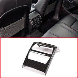 Carbon Fiber Stijl ABS Auto Achter Terug Airconditioning Vent Frame Trim Voor Jaguar E-PACE E TEMPO 2018 2019 Accessoires en Onderdelen