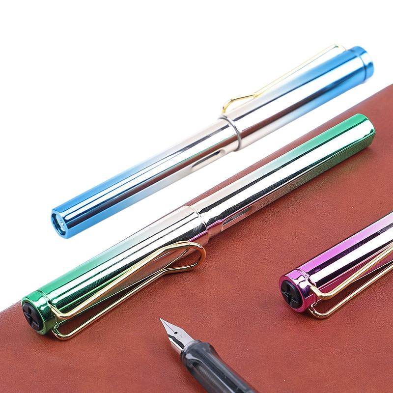 2019 New Fountain Pen Brilliant Color Pen 0.5mm Nib School Student Office Stationery 1pcs