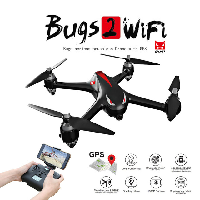 Professional Drone MJX B2W Bugs 2 WiFi FPV Brushless 1080P HD Camera...