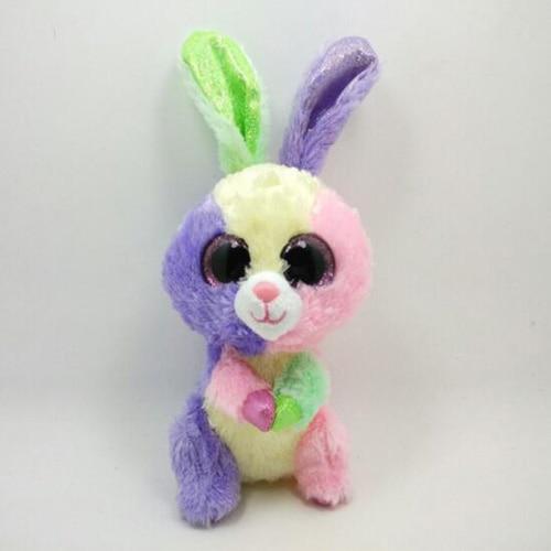 Ty Plush Animal Beanie Boos Big Eyes Rabbit Holiday Christmas Gift Stuffed Animals Toys Doll