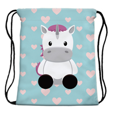 Unicorn and Hearts Patterned Bag