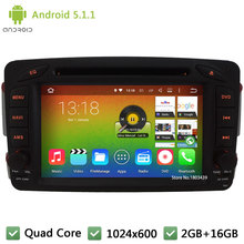 Quad core Android 5.1.1 1024*600 Car DVD Player Radio Audio Stereo Screen GPS  For Benz Vaneo Viano C-W203 CLK-C209 W209 G-W463