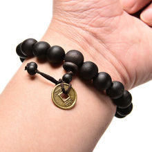 Fashion Charm Wood Buddha Buddhist Prayer Beads Tibet Bracelet Mala Bangle Wrist Band Punk Unisex Jewelry