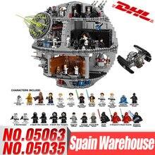 DHL LePin 05063 05035 Star Series войны UCS Звезда смерти развивающие строительные блоки Совместимые части игрушек LegoINGlys 75159 10188