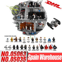 DHL Lepin 05063 05035 Star Series Wars UCS Death Star Educational Building Blocks Bricks Toys Compatible LegoINGlys 75159 10188(China)