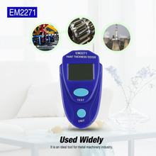 Mini thickness gauge Coating Digital Painting Thickness Meter LCD Automotive Data Hold Car Coating Thickness Tester EM2271
