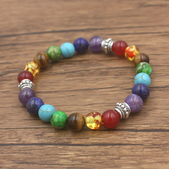 Bracelet Ouverture Des Chakras en pierre naturelle