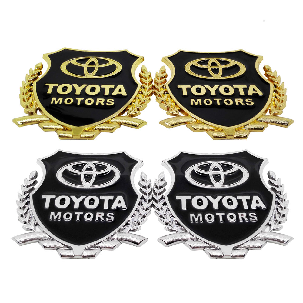 Car accessories 3d metal emblem badge decal auto decoration sticker for toyota auris 4runner yaris amry