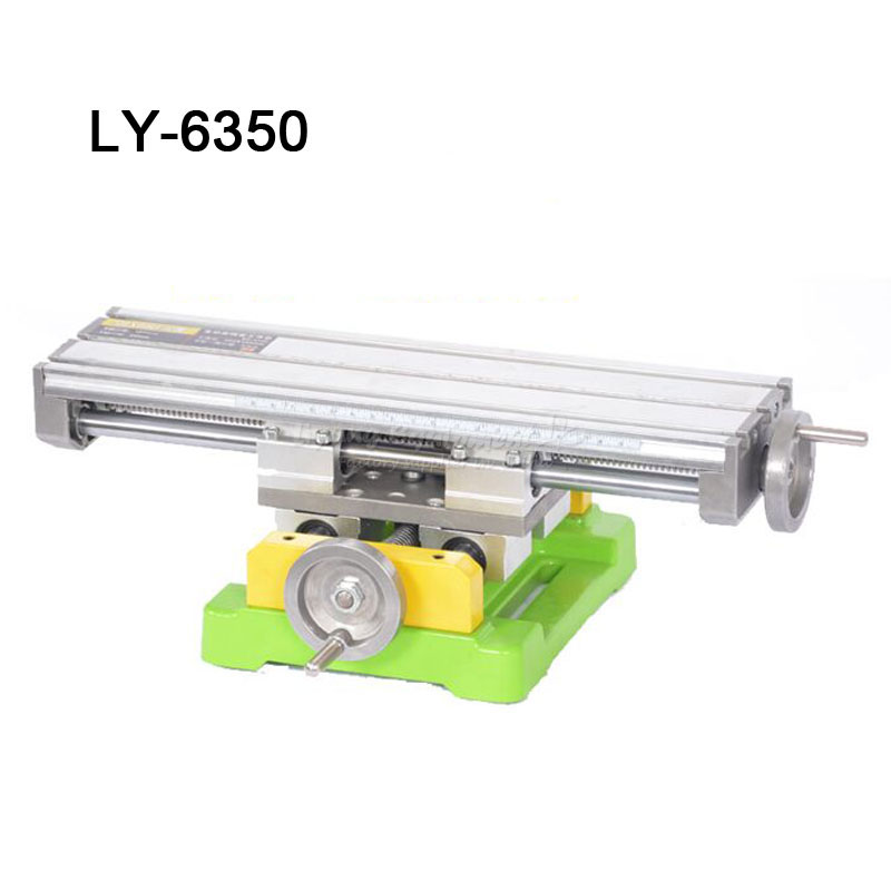 Miniature precision LY6350 multifunction Milling Machine Bench drill Vise Fixture worktable X Y-axis adjustment Coordinate table alsgs alb 310 200rpm 450in lb110v 220v horizontal power feed auto power table feed for milling machine x y z axis