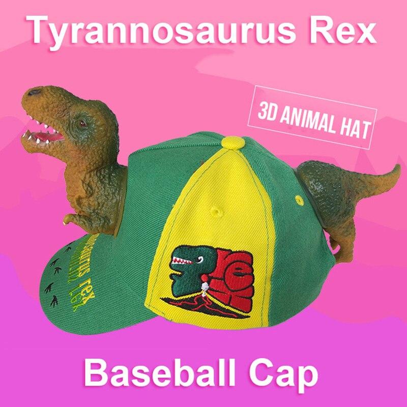 T Rex Christmas.Us 8 08 45 Off 3d Rex Tyrannosaurus Rex Christmas New Year Gift Visor Novelty Women Cup Cotton Animal Hat Parent Child Creative Cartoon Hat In Men S