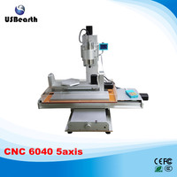 2017 hot sale model 5 axis 6040 cnc router wood carving machine 6040 with A axis B axis