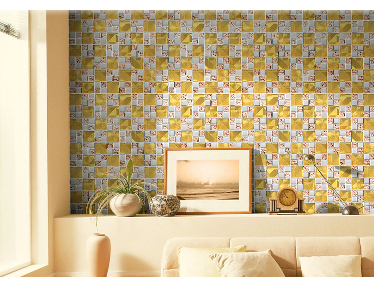 Tegel Decoratie Stickers : Glasmozaïek tegel mode kristal tv achtergrond muur spiegel decoratie