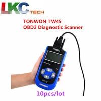 10pcs/lot TONWON TW45 OBD2 Diagnostic Scanner A+ Quality VA G Diagnostic Scan Tool For Most V W And Au di Vehicles since 1990
