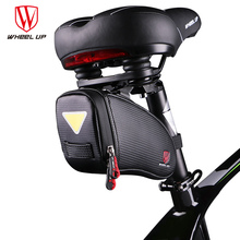 WHEEL UP Bicycle Saddle Bag Waterproof Bike Seat Bag Mountain Road Bike Saddle Bags Reflective Toughness For Cycling Saddle Bags