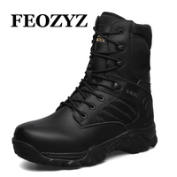 Brand Big Size 40 46 High Top Men Hking Shoes Combat Military Tactical Boots Waterproof Outdoor