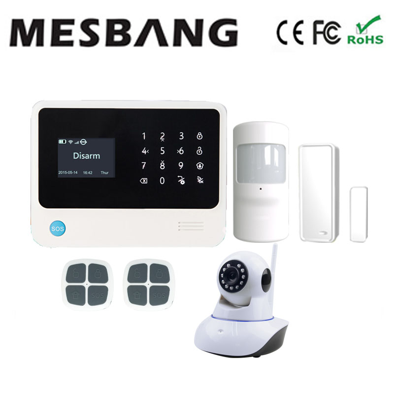2017 home wireless wifi GSM  alarm system wifi IP camera pir sensor 433MHZ with English French Russian Spanish,Dutch цена и фото
