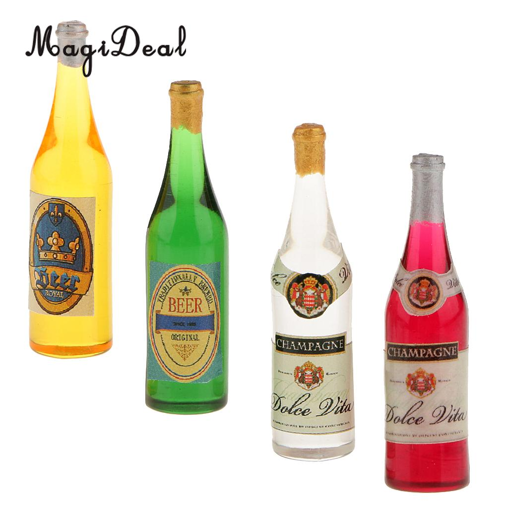 Dollhouse Miniature Bottle of Malibu Rum 1:12 Scale