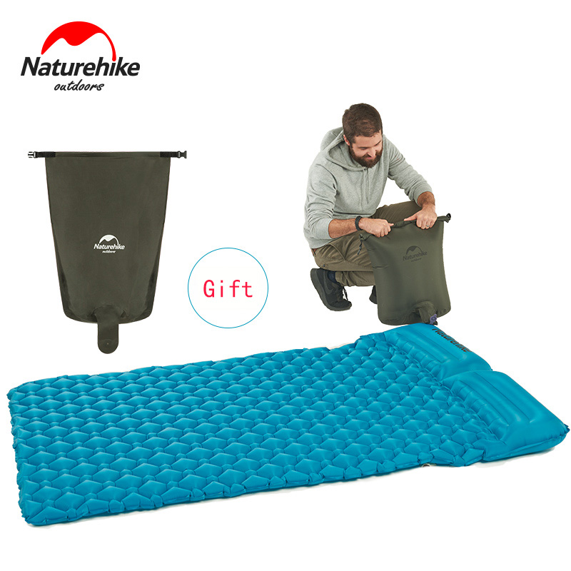 Naturehike Tent Camping Mat Sleeping Pad Ultralight Outdoor Moistureproof Air Mattress Inflatable Air Mat With TPU Camping Bed naturehike inflatable air mat outdoor camping tent single person mattress sleeping pad with air pillow moistureproof beach bed