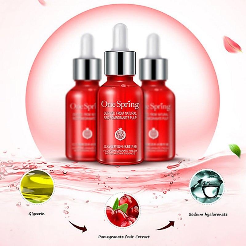 Face Cream Skin Care Whitening Anti Aging Hyaluronic Acid Liquid Red Pomegranate Nourishing Moisturzing Essence Serum T3