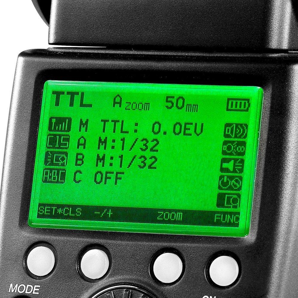 INSEESI Standard X800C X800N X800S GN60 Bezdrátový TTL HSS Flsh - Videokamery a fotoaparáty - Fotografie 3