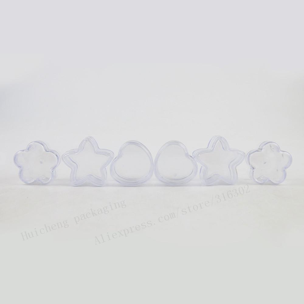 100x5 г путешествия мини образец сердце форма пластик пластик крем банку малый горшок 5 кубиков пустую банку крема экрана чехол