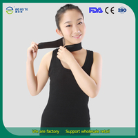 Hot Fashion Magnetic Therapy Neck Support Healthy Protection Spontaneous Tourmaline Heating Headache Belt Neck Massager