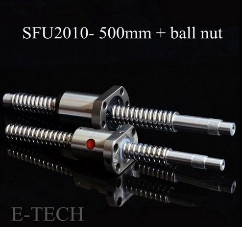 SFU2010 set: 1 pc. L500mm Without End Processed + 1 pc.  SFU2010 Ball nut база альманах 1 2010