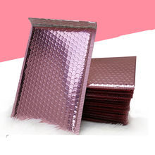 Envelop de bolhas metálicas para presente, bolsas metálicas de ouro rosado para embalagem de presente, saco de lembrancinha de casamento, frete grátis