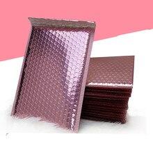 Sobre de burbujas de oro rosa, enrollador de burbujas de papel de oro rosa metálico para embalaje de regalo, bolsa de Favor de boda envío gratis