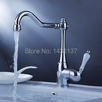 Fashion high quality brass material single lever hot and cold kitchen faucet with ceramic handle.jpg 200x200