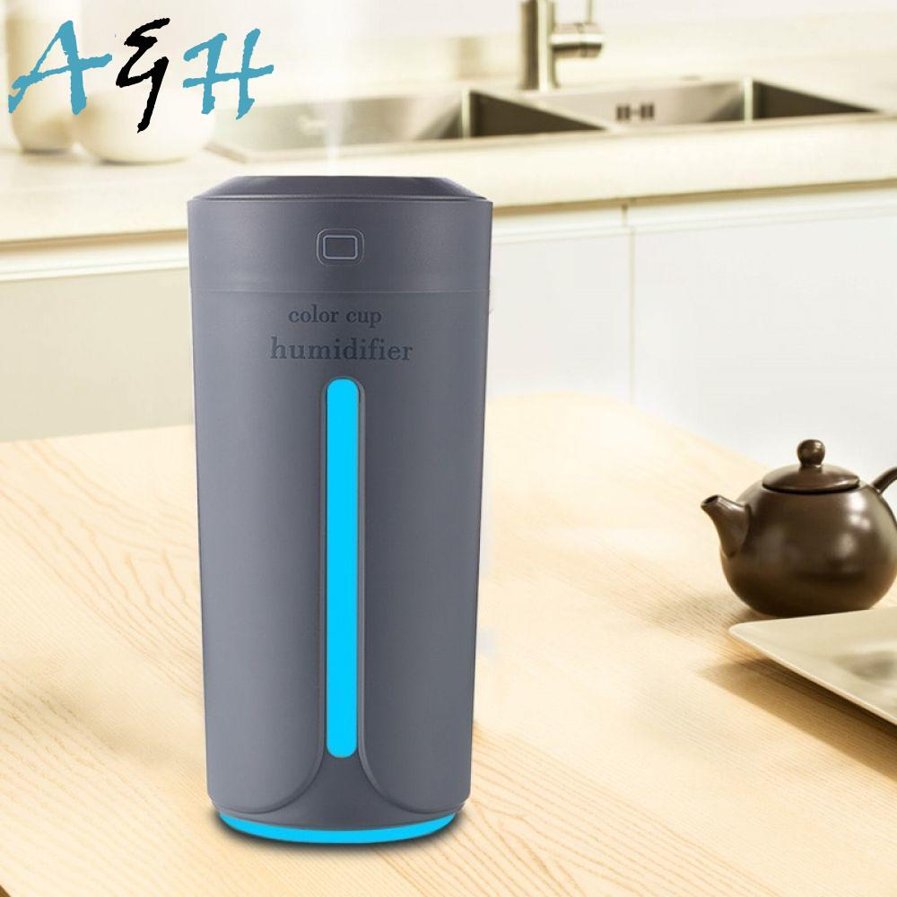Ultrasonic Air Humidifier Essential Oil Diffuser With 7 Color Lights Electric Aromatherapy USB Humidifier Car Aroma Diffuser youzhizun usb air humidifier ultrasonic essential oil aroma diffuser negative ion multi color lights mini electric humidifier