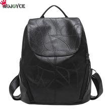 Лидер продаж действительно овчины кожаный рюкзак модельер шить Для женщин сумка для ноутбука Школьные сумки для дочери жены мать