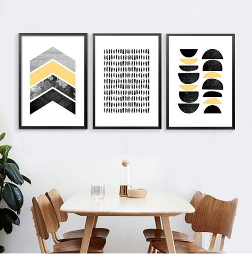 Modern Abstract Art Canvas Posters Prints Geometric Shapes On Canvas Wall Picture For Living Room Home Decor in Painting Calligraphy from Home Garden
