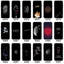 Silicone phone back cover Painted TPU Case for samsung a50 iphone 6 7 8 xs for huawei honor 8x honor 10 CASE(China)