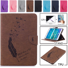 Luxury Embossing Case For Samsung Galaxy Tab S2 8 Inch SM-T710 T715 PU Leather Stand Flip SM-T715 Tablet Protective Cover + Film аккумулятор для samsung galaxy tab s2 8 0 t710 t715 3900mah cs cameronsino